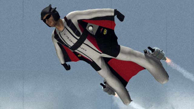 Jet Powered Wing Suit | Stunt Junkies